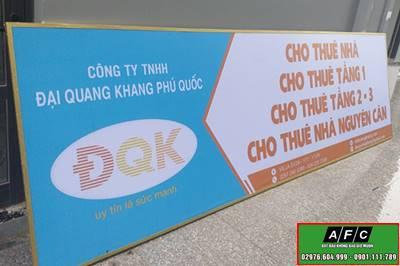Thi công biển quảng cáo in bạt giá rẻ tại Phú Quốc