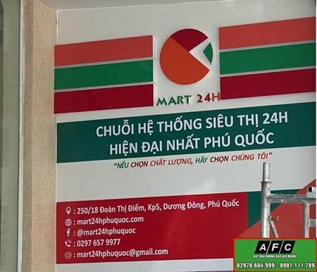 Thi Cong Bien Quang Cao Sieu Thi Mart 24h Phu Quoc
