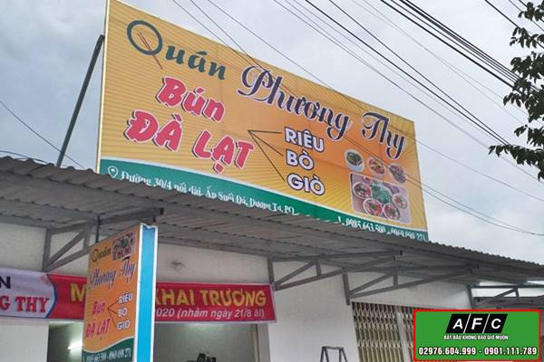 Thi công biển quảng cáo in bạt tại Phú Quốc