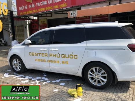 Nhận In Decal dán xe ô tô giá rẻ tại Phú Quốc